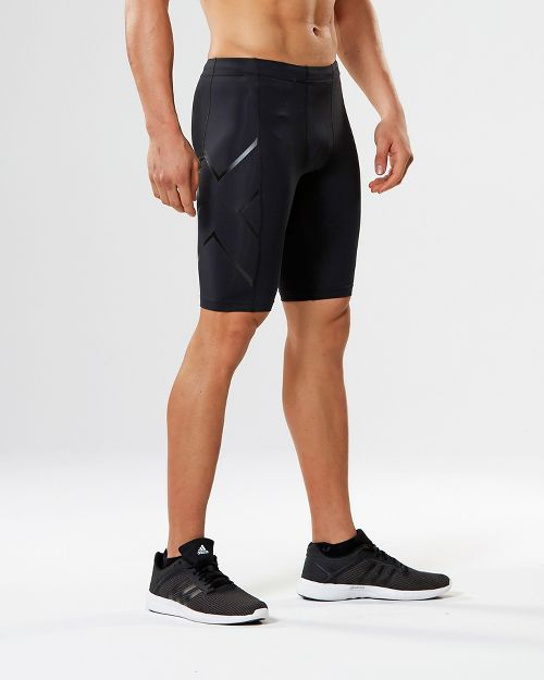 Mens 2XU TR2 Compression & Fitted Shorts - Black/Nero M