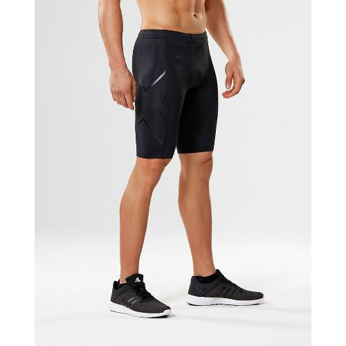 Mens 2XU TR2 Compression & Fitted Shorts - Black/Nero S