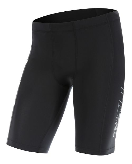 Mens 2XU TR2 Compression & Fitted Shorts - Black/White L