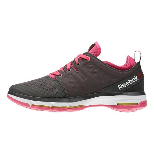 Womens Reebok Cloudride DMX Walking Shoe - Dark Grey/Pink 8
