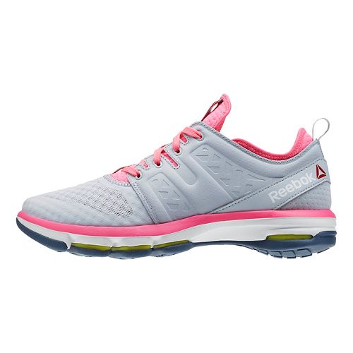 Womens Reebok Cloudride DMX Walking Shoe - Light Grey/Pink 8