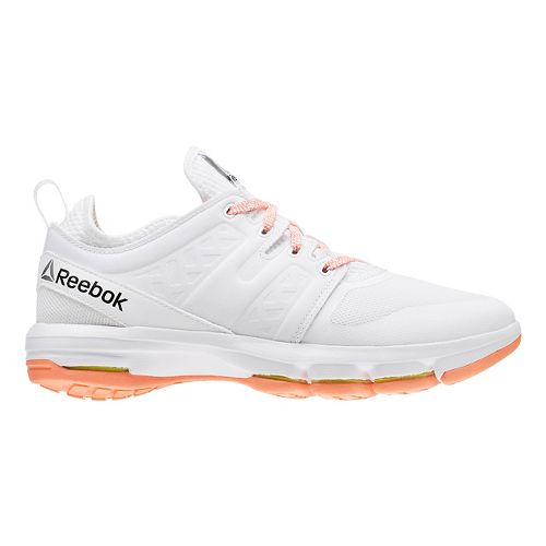 Womens Reebok Cloudride DMX Walking Shoe - White/Pink 6.5