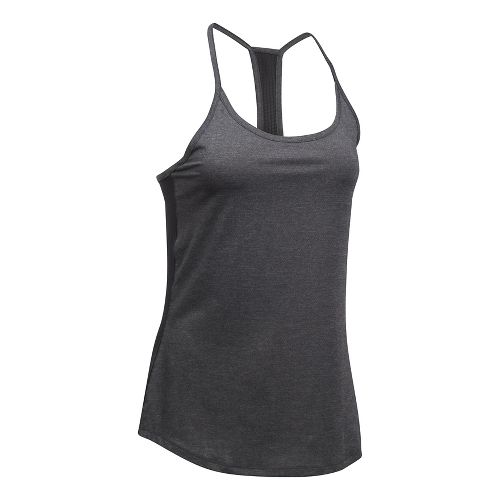 Womens Under Armour Fly By Racerback Sleeveless & Tank Technical Tops - Black/Black L