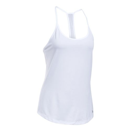Womens Under Armour Fly By Racerback Sleeveless & Tank Technical Tops - White M