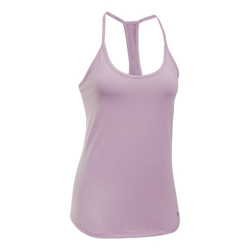 Womens Under Armour Fly By Racerback Sleeveless & Tank Technical Tops - Fresh Orchid L ...