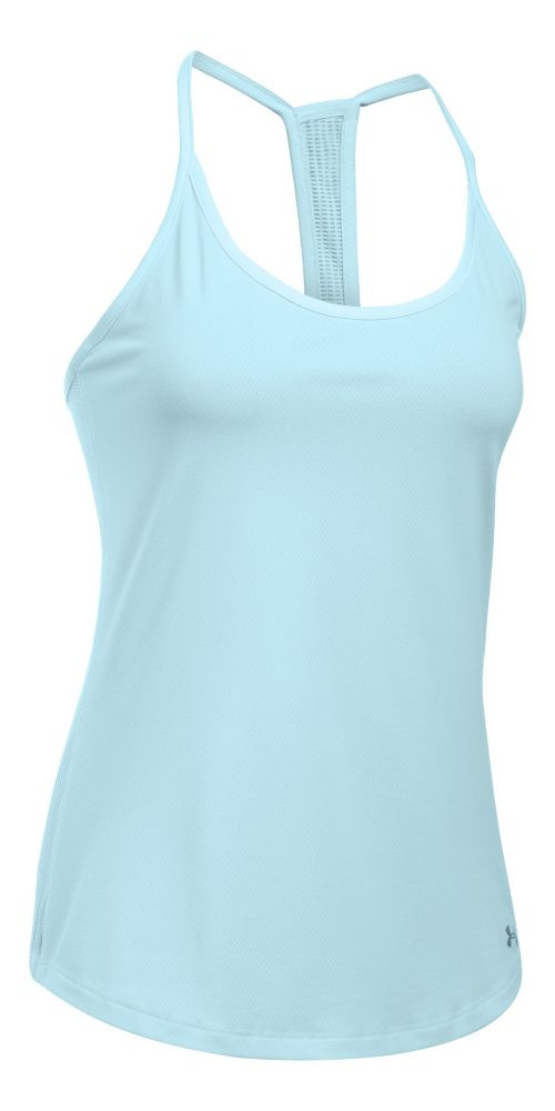 Womens Under Armour Fly By Racerback Sleeveless & Tank Technical Tops - Skylight L