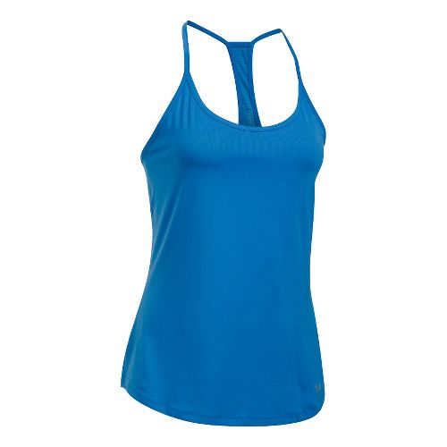 Womens Under Armour Fly By Racerback Sleeveless & Tank Technical Tops - Mediterranean S