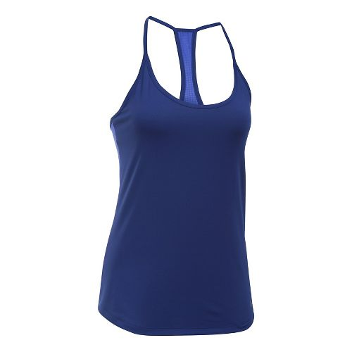 Womens Under Armour Fly By Racerback Sleeveless & Tank Technical Tops - Europa Purple XS ...