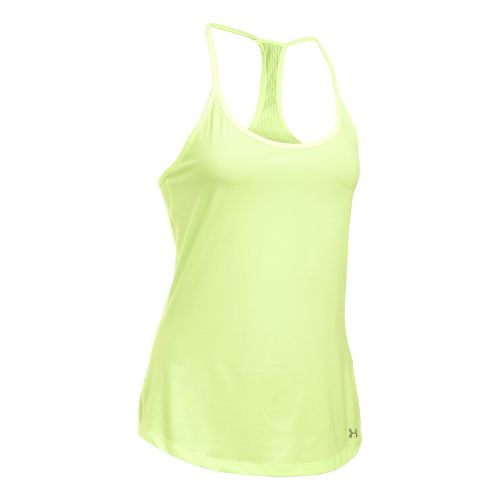 Womens Under Armour Fly By Racerback Sleeveless & Tank Technical Tops - Pale Moonlight XL ...