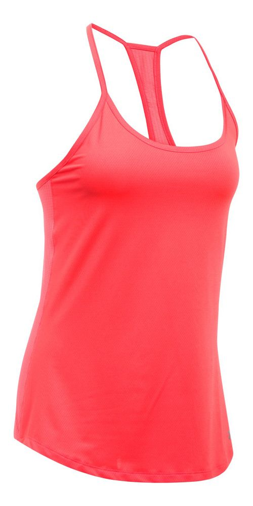 Womens Under Armour Fly By Racerback Sleeveless & Tank Technical Tops - Marathon Red XL