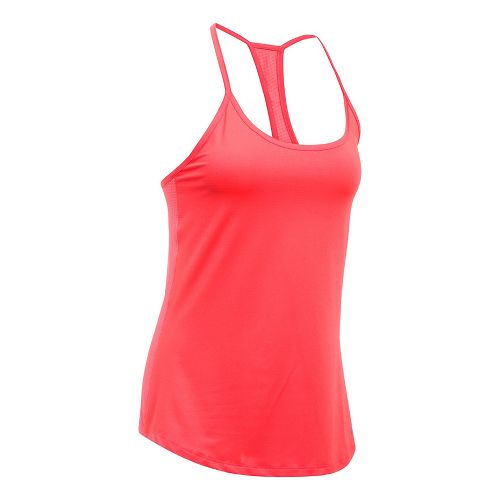 Womens Under Armour Fly By Racerback Sleeveless & Tank Technical Tops - Marathon Red XL ...