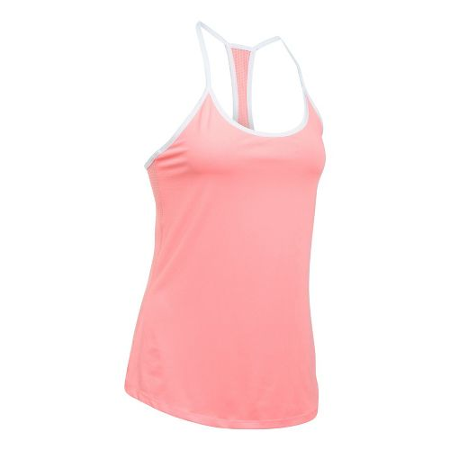 Womens Under Armour Fly By Racerback Sleeveless & Tank Technical Tops - Marathon Red M ...