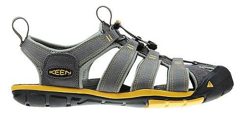 Mens Keen Clearwater CNX Sandals Shoe - Gargoyle/Lemon 11