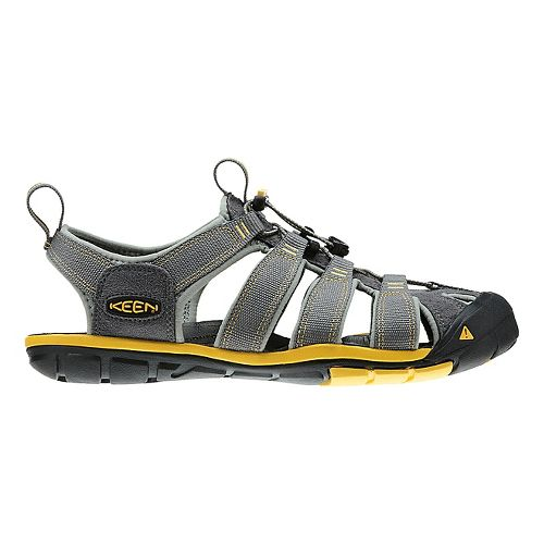 Mens Keen Clearwater CNX Sandals Shoe - Gargoyle/Lemon 11