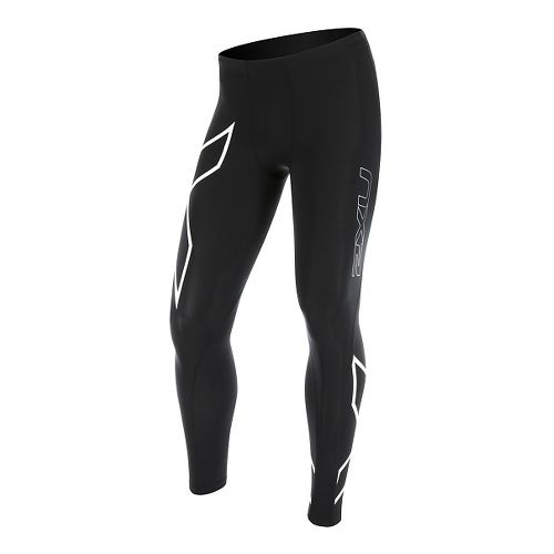 Mens 2XU Compression Tights & Leggings Pants - Black/White L-R