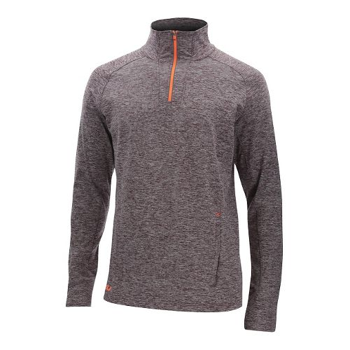 Mens 2XU Formsoft 1/4 Zip Long Sleeve Technical Tops - Run Burgundy/Orange S