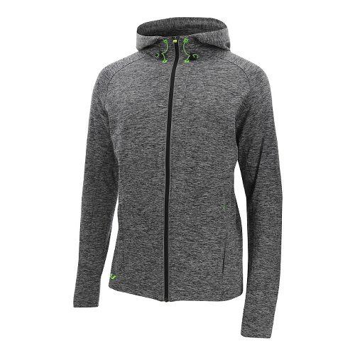 Mens 2XU Formsoft Long Sleeve Hoodie Casual Jackets - Black Marle/Gecko S