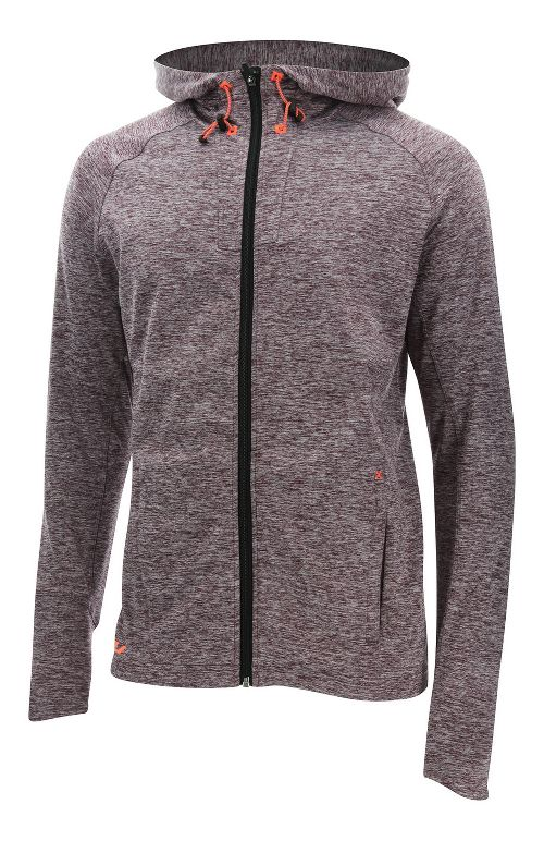 Mens 2XU Formsoft Long Sleeve Hoodie Casual Jackets - Run Burgundy/Orange XL