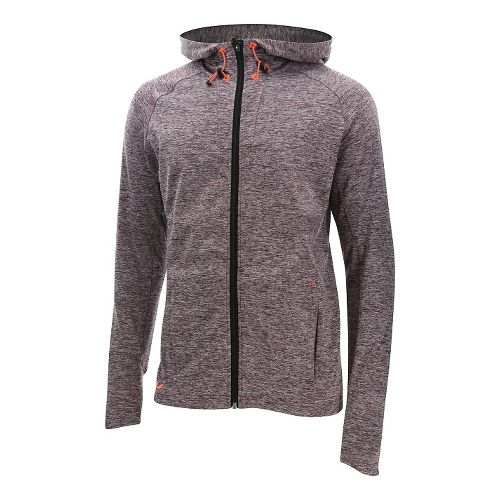 Mens 2XU Formsoft Long Sleeve Hoodie Casual Jackets - Run Burgundy/Orange XL