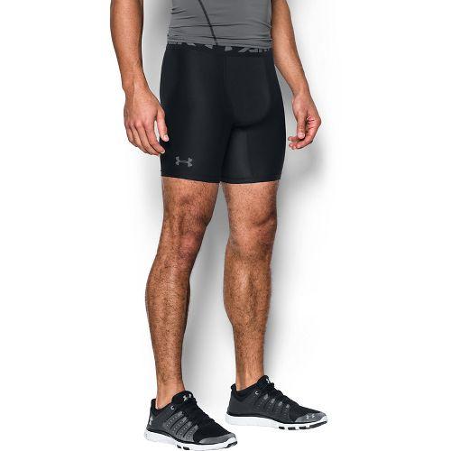 Mens Under Armour 2.0 Compression Boxer Brief Underwear Bottoms - Black/Graphite L