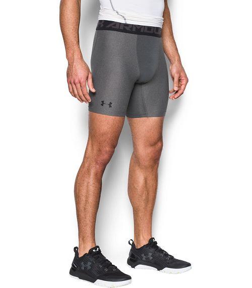 Mens Under Armour 2.0 Compression Boxer Brief Underwear Bottoms - Carbon Heather/Black 3XL