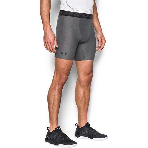 Mens Under Armour 2.0 Compression Boxer Brief Underwear Bottoms - Carbon Heather/Black L