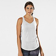 Womens Road Runner Sports Shades of Grey Burnout Sleeveless & Tank Technical Tops - White M