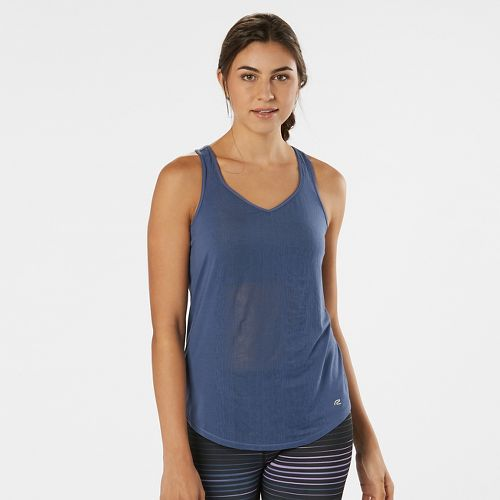 Womens Road Runner Sports Shades of Grey Burnout Sleeveless & Tank Technical Tops - Storm Blue L