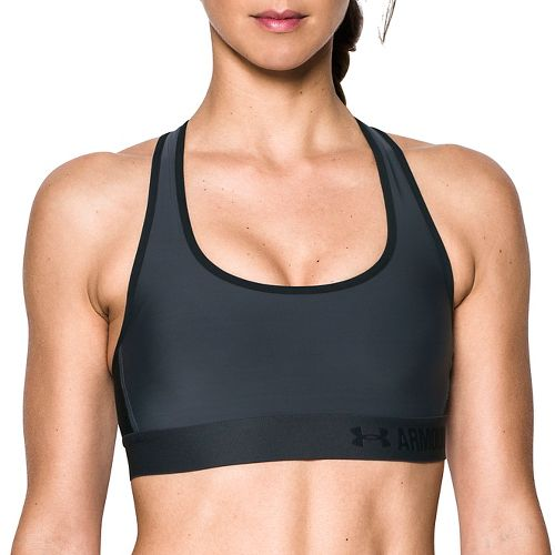 Womens Under Armour Mid Crossback Sports Bras - Stealth Grey L