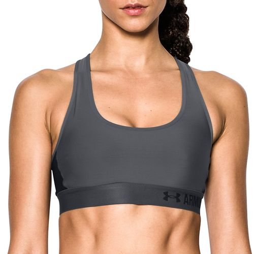 Womens Under Armour Mid Crossback Sports Bras - Rhino Grey L