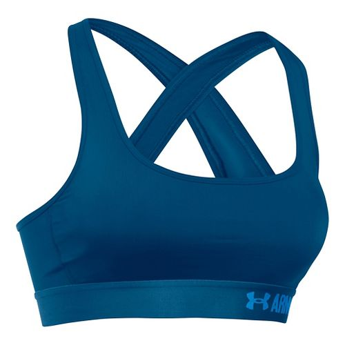 Womens Under Armour Mid Crossback Sports Bras - Heron S