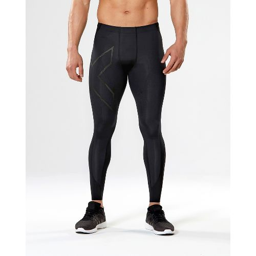 Mens 2XU MCS All Sport Compression Tights & Leggings Pants - Black/Nero L-R