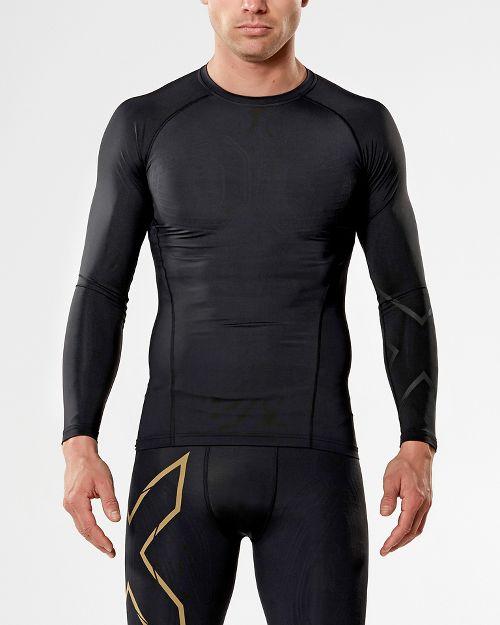 Mens 2XU MCS All Sport Compression Long Sleeve Technical Tops - Black/Nero XL