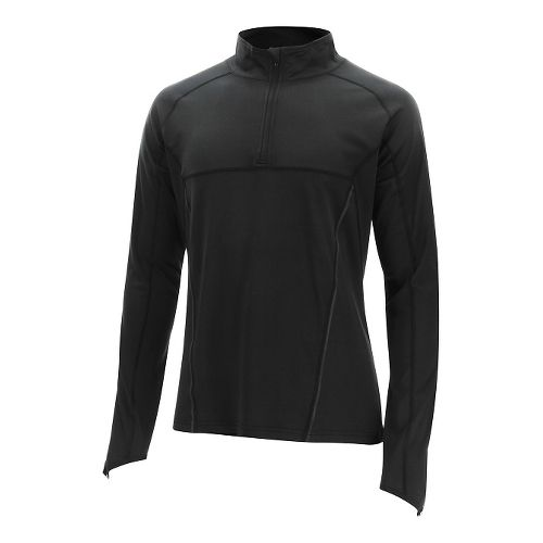 Mens 2XU Thermal Active 1/4 Zip Long Sleeve Technical Tops - Black/Black L