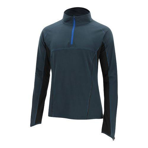 Mens 2XU Thermal Active 1/4 Zip Long Sleeve Technical Tops - Ombre Blue/Black XXL