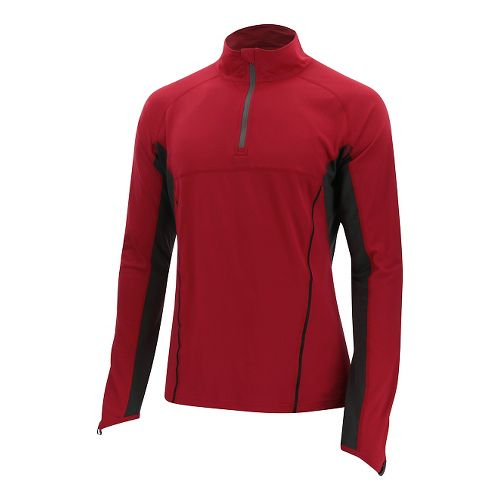 Mens 2XU Thermal Active 1/4 Zip Long Sleeve Technical Tops - Rio Red/Ink L