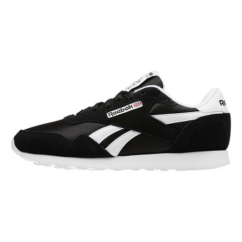 Womens Reebok Royal Nylon Casual Shoe - Black/White 6
