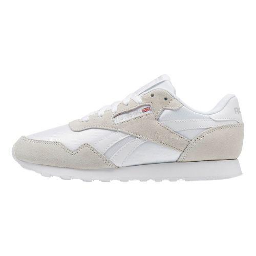 Womens Reebok Royal Nylon Casual Shoe - White/Grey 6.5
