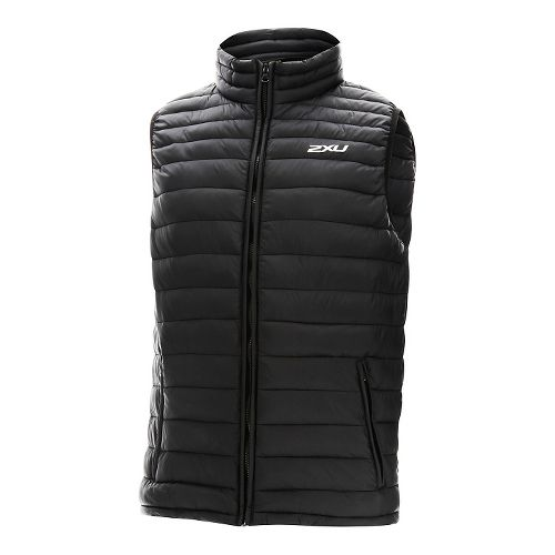 Mens 2XU Transit Vests Jackets - Black/Black L