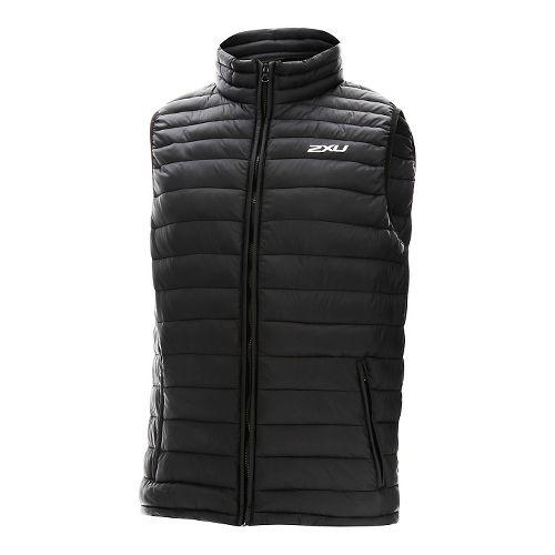 Mens 2XU Transit Vests Jackets - Black/Black XL