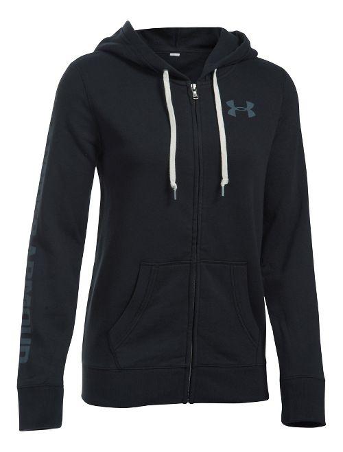 Womens Under Armour Favorite Fleece Full-Zip Hoodie & Sweatshirts Technical Tops - Black S