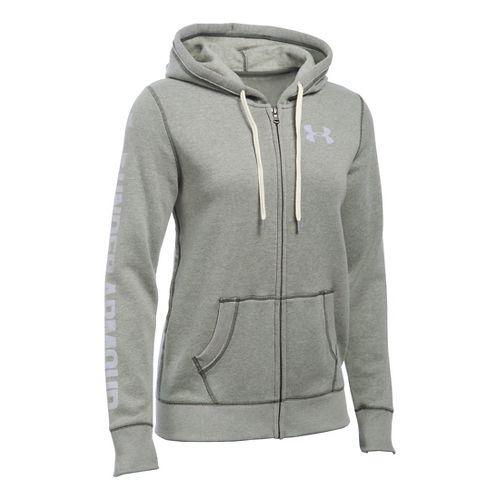 Womens Under Armour Favorite Fleece Full-Zip Hoodie & Sweatshirts Technical Tops - Downtown ...