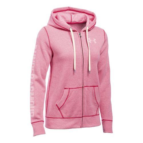 Womens Under Armour Favorite Fleece Full-Zip Hoodie & Sweatshirts Technical Tops - Knock Out XL ...