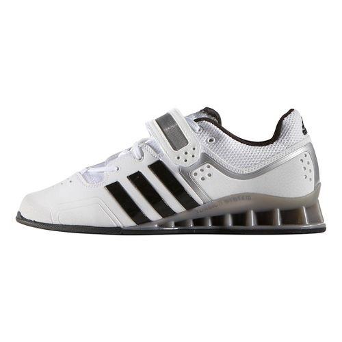 Mens adidas Adi Power 2 Cross Training Shoe - White/Black/Grey 12.5