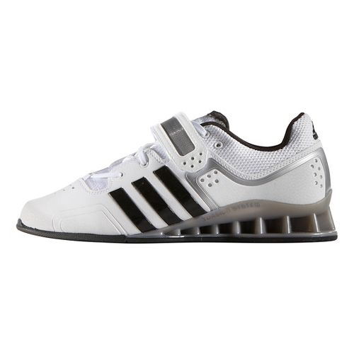 Mens adidas Adi Power 2 Cross Training Shoe - White/Black/Grey 7.5