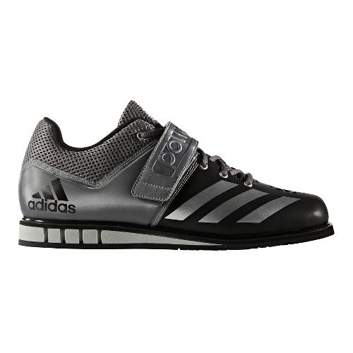 Mens adidas PowerLift 3 Cross Training Shoe - Black/Silver 11.5