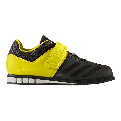 Mens adidas PowerLift 3 Cross Training Shoe - Dark Grey/Yellow 8.5