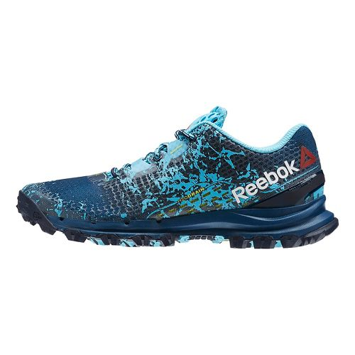 Womens Reebok All Terrain Thrill Trail Running Shoe - Blue/Yellow 6.5