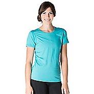Womens Skirt Sports Free Flow Tee Short Sleeve Technical Tops - Aquamarine XXL