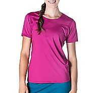 Womens Skirt Sports Free Flow Tee Short Sleeve Technical Tops - Razz S